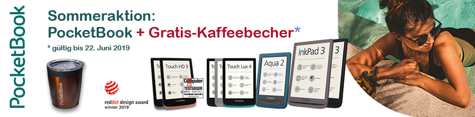 Pocketbook-Aktion: Gratis Kaffeebecher sichern!